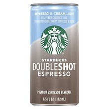 Starbucks Coffee Doubleshot Light Premium Coffee Drink Espresso & Cream