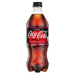 Coca-Cola Zero Soda 20 oz Bottle Cherry