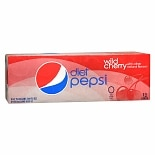 Diet Pepsi Soda 12 Pack 12 oz Cans Wild Cherry