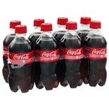 Coca-Cola Soda 8 Pack 12 oz Bottles Cola,8 Pack 12 oz Bottles