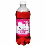 Nice! Caffeine-Free Soda 20 oz Bottle Strawberry Cherry,20 oz Bottle