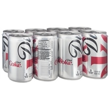 Diet Coke Soda Cola,7.5 oz Cans