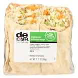 Good & Delish Wrap Sandwich Vegetarian Hummus