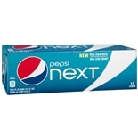 Pepsi Next Soda Cola,12 Pack 12 oz Cans
