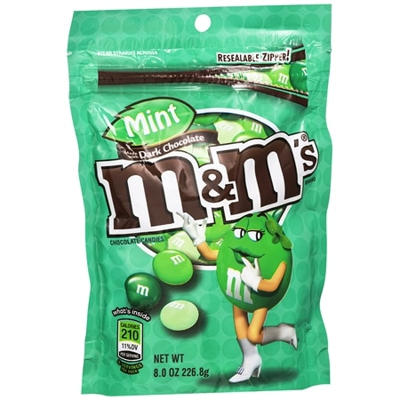 M&M's Dark Chocolate Candies Mint
