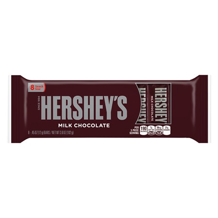 Hershey's Candy Bars Milk Chocolate, 8 pk