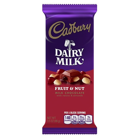 Cadbury Dairy Milk Bar Fruit & Nut