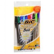 BiC Cristal Bold Ball Point Pens 1.6 mm Assorted Colors