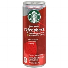 Starbucks Coffee Refreshers Sparkling Green Coffee Energy Drink 12 oz Can