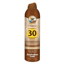 Australian Gold Continuous Spray Sunscreen with Instant Bronzer, SPF 30