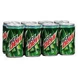 Mountain Dew Soda 7.5 oz Cans