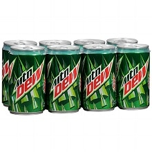 Mountain Dew Soda 8 Pack Cans 8 Pack 7.5 oz Cans