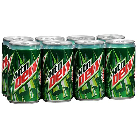 Mountain Dew Soda 7.5 oz Cans, 8 pk