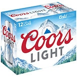 Coors Light Beer 12 oz Cans 12 Pack