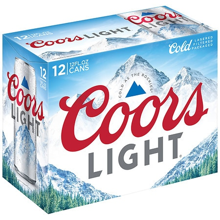 Coors Light Beer 12 oz. Cans, 12 pk