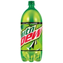 Mountain Dew Soda 2 Liter Bottle