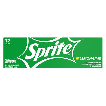 Sprite Soda Lemon-Lime,12 oz. Cans