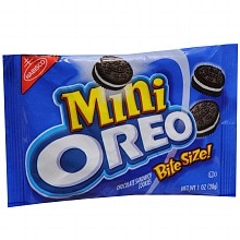 Nabisco Mini Oreo Chocolate Sandwich Cookies Chocolate