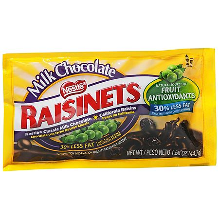 Nestle Raisinets Chocolate Covered Raisins Candy Milk Chocolate