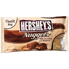 Hershey's Nuggets Candy Milk Chocolate with Almonds