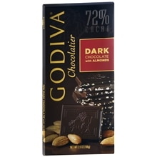 Godiva 72% Cacao Candy Bar Dark Chocolate with Almonds