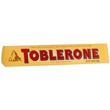 Toblerone Swiss Milk Chocolate with Honey and Almond Nougat Bar Honey and Almond Nougat