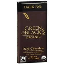 Organic Dark Chocolate Bar 70% Cocoa Content