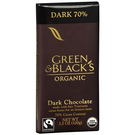 Green & Black's Organic Dark Chocolate Bar 70% Cacao