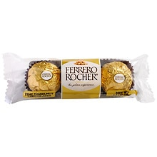 Ferrero Rocher Fine Hazelnut Chocolates, 3 pieces