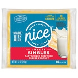 Singles Pasteurized Process Cheese Food