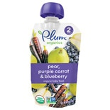 Plum Organics Baby Organic Baby Food Blueberry, Pear & Purple Carrot