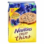 Nabisco Newtons Fruit Thins Cookies Blueberry Brown Sugar