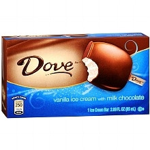 Dove Ice Cream Bar Vanilla with Milk Chocolate
