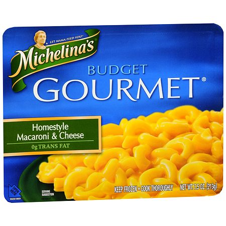 Michelina's Budget Gourmet Frozen Entree Homestyle Macaroni & Cheese