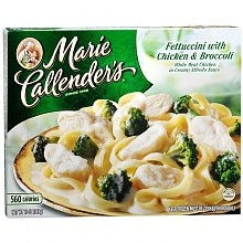 Marie Callender's Frozen Entree Fettuccini with Chicken & Broccoli