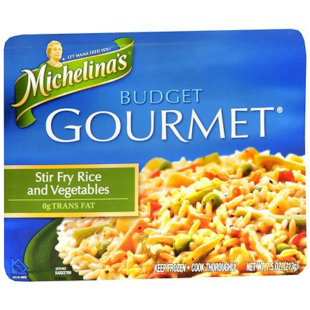 Michelina's Budget Gourmet Frozen Entree Stir Fry Rice & Vegetables
