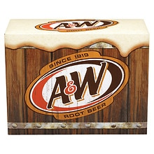 A&W Root Beer Soda 12 Pack 12 oz Cans