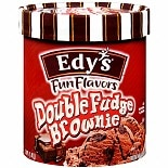 Edy's Fun Flavors Ice Cream Double Fudge Brownie