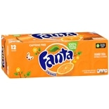 Fanta Soda 12 Pack 12 oz Cans Orange