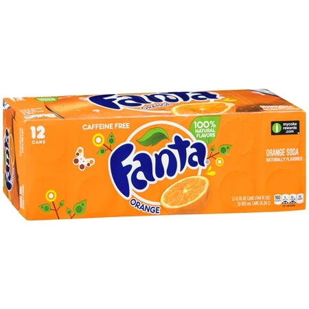 Fanta Soda Orange,12 oz. Cans