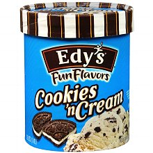 Edy's Fun Flavors Ice Cream Cookies & Cream