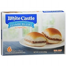 White Castle Microwaveable Hamburgers 6 Pack