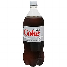 Diet Coke Soda 1 Liter Bottle