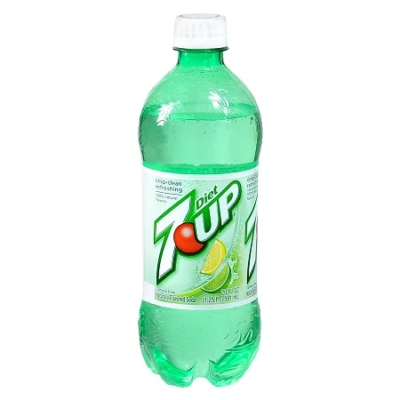 Diet 7-Up Soda 20 oz. Bottle