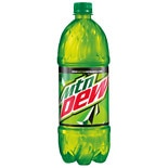 Mountain Dew Soda 1 Liter Bottle