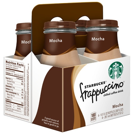 Starbucks Coffee Frappuccino Coffee Drink 4 Pack Mocha