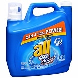 All 2X Ultra Oxi-Active Stainlifters Laundry Detergent Liquid Waterfall Clean