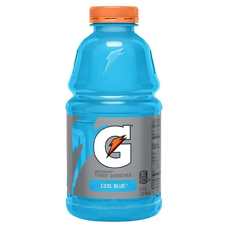 Gatorade Perform 02 Thirst Quencher Beverage Cool Blue