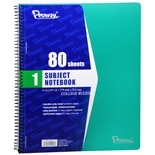Penway 1 Subject Spiral Notebook College Ruled Assorted Colors