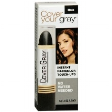 Cover Your Gray Instant Temporary Haircolor Touch-Up Stick Black